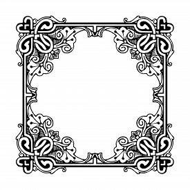 Vintage Ornament Pattern Frame, Border Ornament Pattern Frame, Engraving Ornament Pattern Frame, Orn