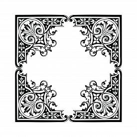 Engraving Ornament Pattern Frame, Border Ornament Pattern Frame, Engraving Ornament Pattern Frame, O