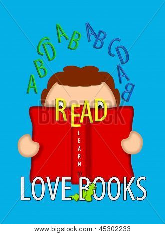 Read And Love Books Blue