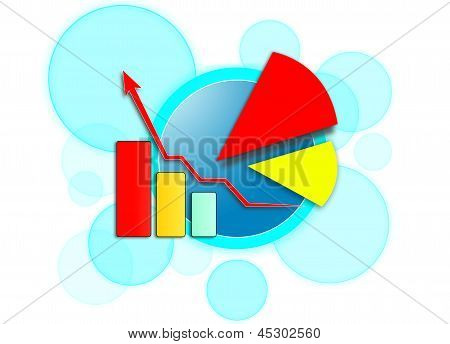 Arrow up graph and Chart