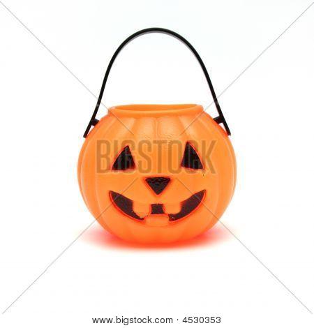 Isolated Plastic Jack-o-lantern
