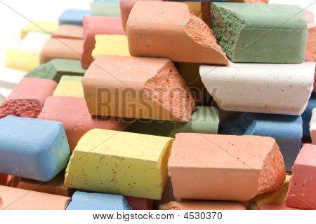 Group Of Colored Chalk