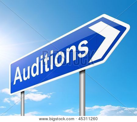 Auditions Sign.