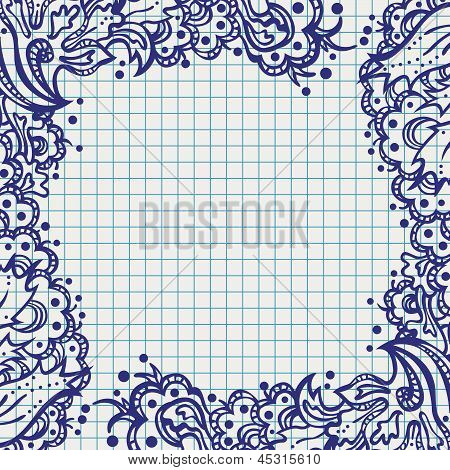 Square Floral Abstract Frame