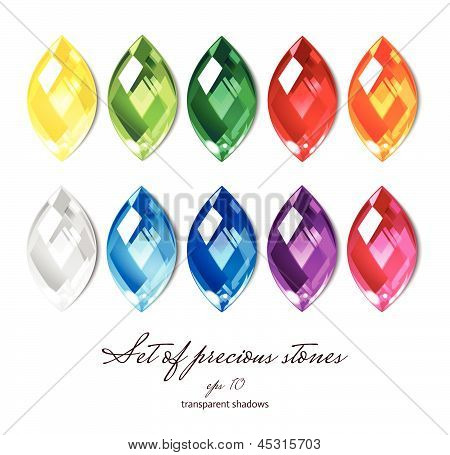 Crystals set of 10 colors