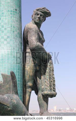 Fisherman Fountain Statue