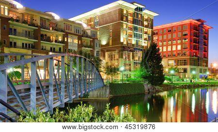 Falls Park in Greensville, South Carolina, USA