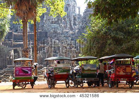 Tuk-tuks In Angkor Wat