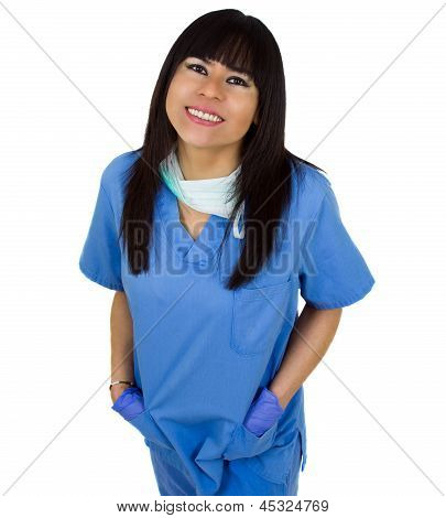 Beautiful Latin Female Doctor Smiling