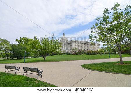 Washington DC, US Capitol Building - wide angle view