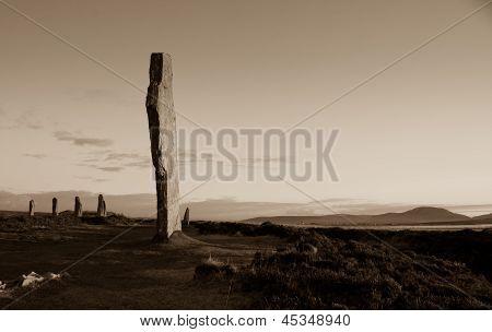 Neolithic stone circle and henge