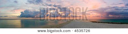 Ocean Beach And Sunset