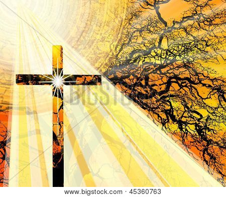 Spiritual Glowing Cross