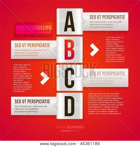 Modern infographic template for business design. Can be used for banners, cards, paper designs, website layouts, diagrams and presentations. Vector eps10 illustration.