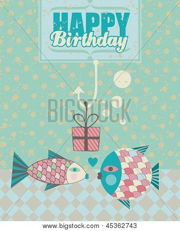 Fish Birthday Card