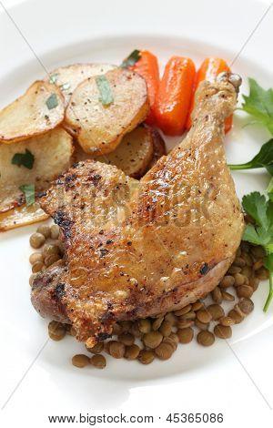 confit de canard, duck confit, french bistro dish poster
