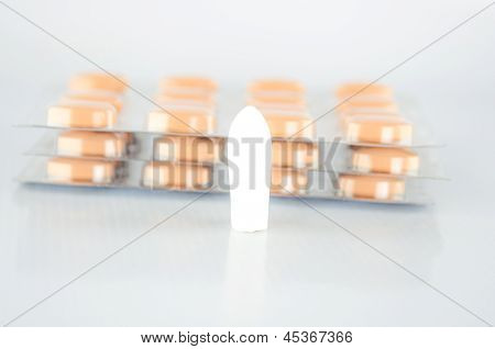 Suppository Tablet And Blister Pack