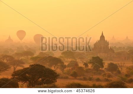 Bagan in sunset