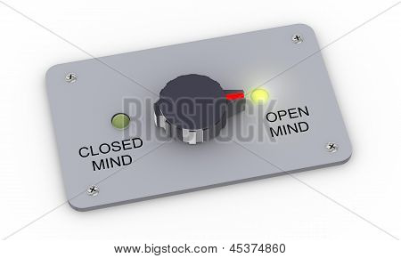 3D Open And Closed Mind Switch