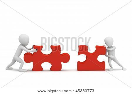 3D Small People Collect Puzzle.