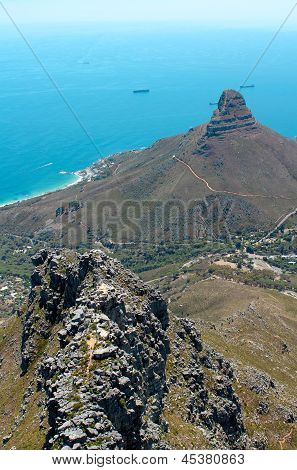 Image Of Lions Head Taken From Table Mountain