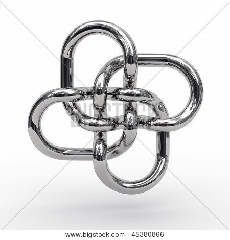 Complex Knot Of Metal Pipes