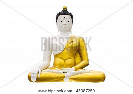 Isolated - Side Of Biggest Image Of Buddha In Wianghaeng Chiangmai
