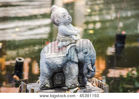 Molded dolls baby and elephant Page View my page poster