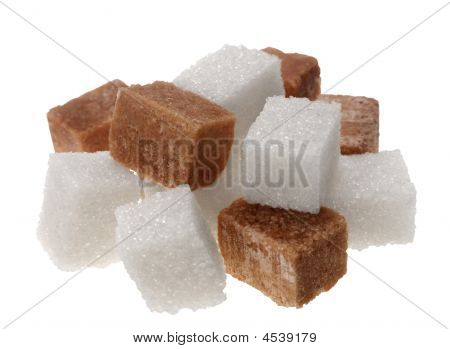 Brown And Wite Sugar Cube