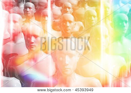 Colorful Group Of People