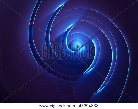 Abstract spiral twisted 3d illustration background