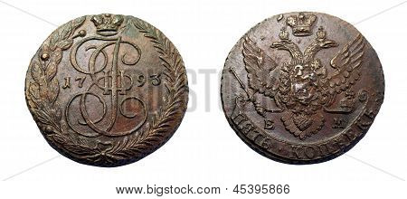 Russian 5 Kopeck Coin Of 1793