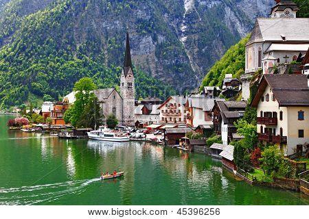 Hallstatt - small pretty pearl of Alps. Austria