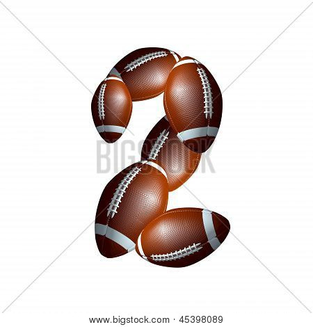 american football alphabet  - number font 2