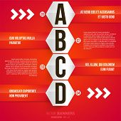 Modern infographic template for business design. Can be used for banners, cards, paper designs, website layouts, diagrams and presentations. Vector eps10 illustration. poster