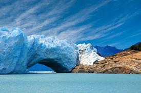 Bridge Of Ice In Perito Moreno Glacier.