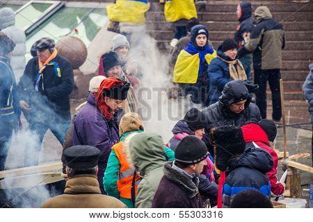 People On Maidan In Kiev