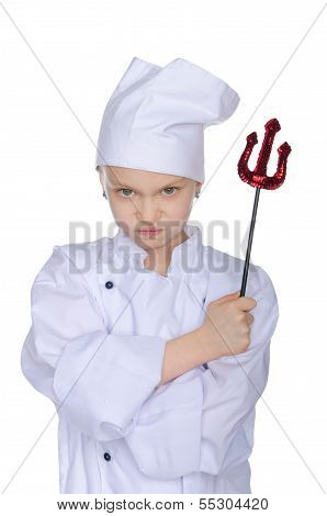 Evil Chef With Infernal Pitchfork