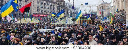 Rally For European Integration In  Center Of Kiev