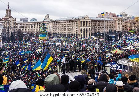 Rally For European Integration In Center Of Kiev