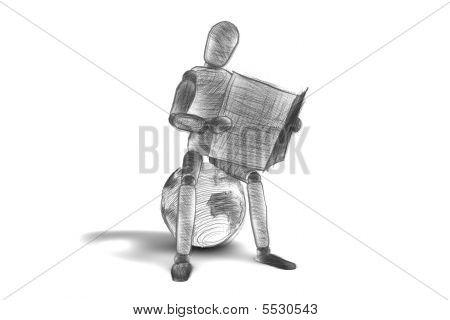 3D Human Sketch