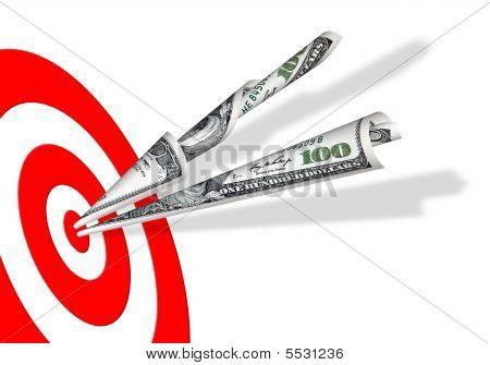 Target & 100 Dollars Banknotes