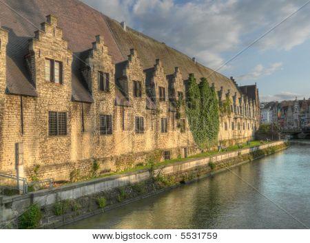 Castle Gravensteen Exterior Ghent Belgium