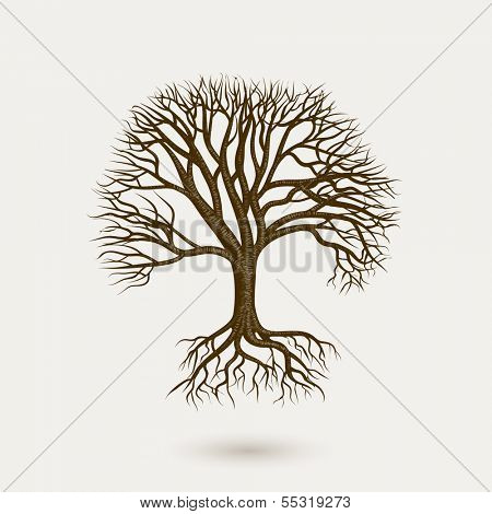 Old tree, eps10 vector