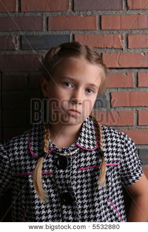 Pretty Young Girl With Angry Looking Pout