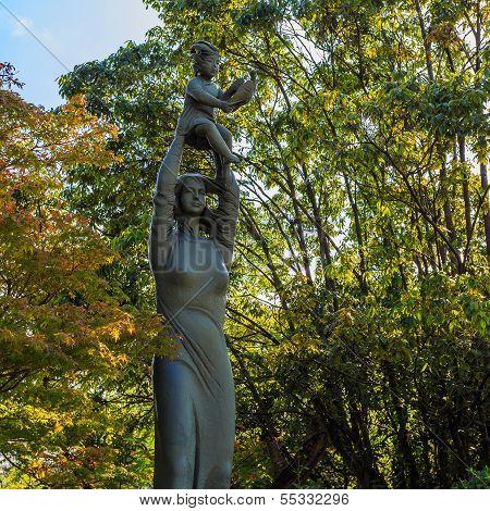 Hymn to life Sculpture at Nagasaki Peace Park