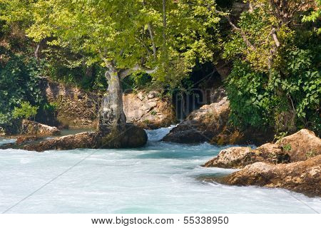 View Of Manavgat Waterfall In Turkey