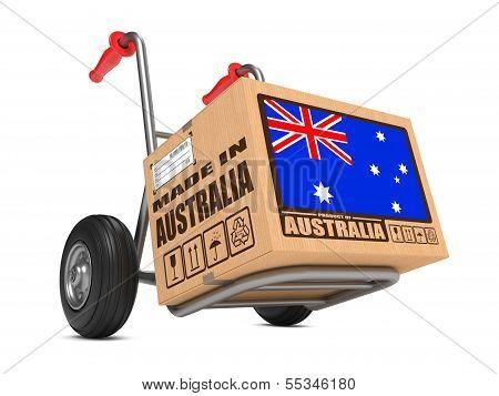 Made in Australia - Cardboard Box on Hand Truck.