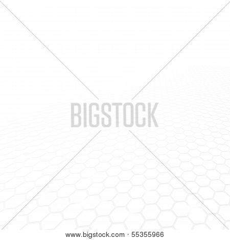 White mosaic geometric vector background