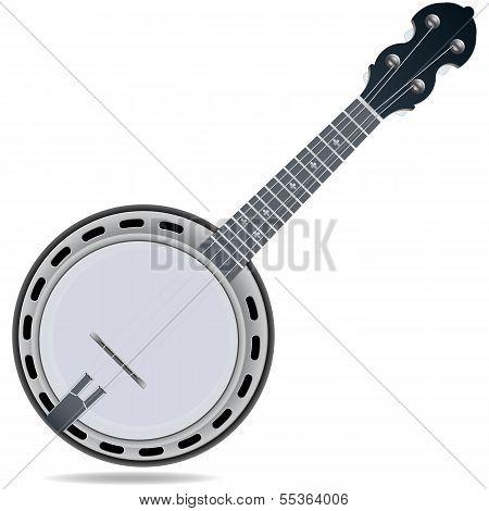 Grey fiddle insrtument banjo
